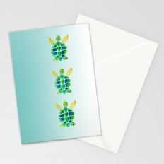 Swimming Baby Sea Turtles Stationery Cards