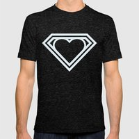Superlove Mens Fitted Tee Tri-Black SMALL
