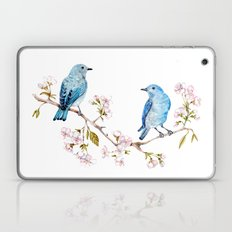 Mountain Bluebirds on Sakura Branch Laptop & iPad Skin