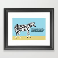 Zebros The Douches Of Th… Framed Art Print