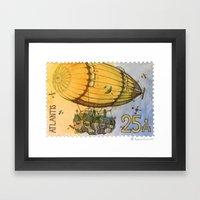 Atlantis Stamp Framed Art Print