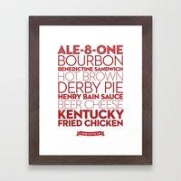 Louisville —Deliciou… Framed Art Print