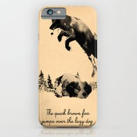 iPhone Cases featuring The quick brown fox jumps over the lazy dog by Robert Farkas