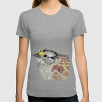 Blue Bird Womens Fitted Tee Tri-Grey SMALL