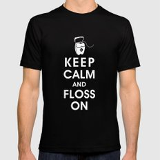 Keep Calm and Floss On Mens Fitted Tee SMALL Black