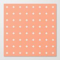 Peach Cross // Peach Plu… Canvas Print