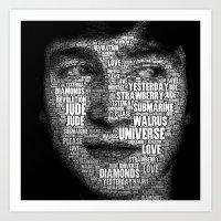 The Fab Four Songs - Joh… Art Print
