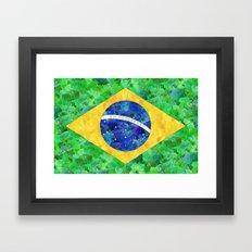 BRASIL em progresso Framed Art Print