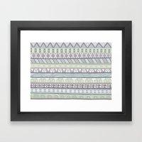 Simple Pattern Framed Art Print