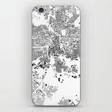 Baltimore Map Schwarzplan Only Buildings iPhone & iPod Skin