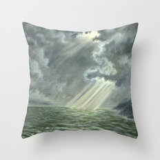 Sunbeams and Rolling Seas Throw Pillow