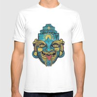 Morpho Mask Mens Fitted Tee White SMALL