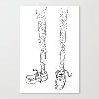 hairy legs Canvas Print
