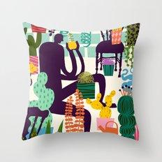 Natural Recall poster design Throw Pillow