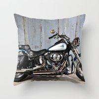 Heritage Softail Throw Pillow