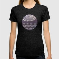 Typewriter Womens Fitted Tee Tri-Black SMALL