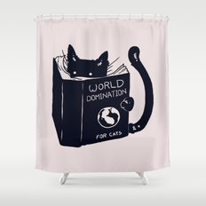 World Domination For Cat… Shower Curtain