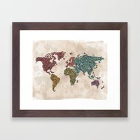 Paisley World Framed Art Print