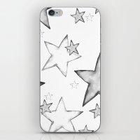 BLACK STARS iPhone & iPod Skin