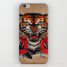 Old School Tiger and roses - tattoo iPhone & iPod Skin