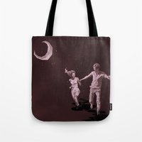 Moonlight Run Tote Bag