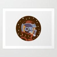 Headgear: Star-Lord Film Art Print