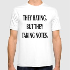 HATERS Mens Fitted Tee White SMALL