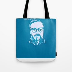 Hello World - This is a portrait of Dennis Ritchie  Tote Bag