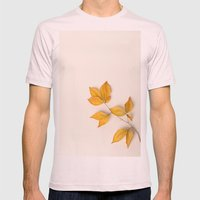 Yellow Beech Leaves Mens Fitted Tee Light Pink SMALL
