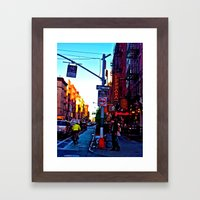 Sun Goes Down  In The Ci… Framed Art Print