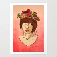 Is She Down To Earth Or … Art Print