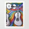 Guitars  Art Print