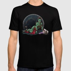 Aren't you a little brainless for a stormtrooper? (Zombie Slaved Princess Leia) SMALL Black Mens Fitted Tee