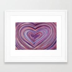 Heart Love Portal  Framed Art Print