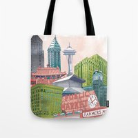 A Pleasant Day in Seattle Tote Bag