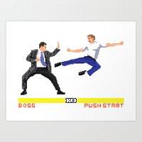 Boss Fight Art Print