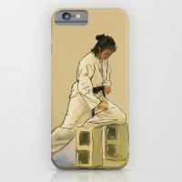 iPhone & iPod Case featuring Preparing to Break a Brick by Karen Herman Jacquez