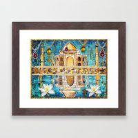 Reflections of the Taj Mahal Framed Art Print