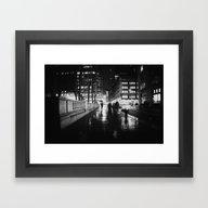 Framed Art Print featuring New York City Noir by Vivienne Gucwa