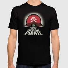 Dawn of the Zombie Pirate SMALL Mens Fitted Tee Black