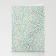 Berry Branches – Turqu… Stationery Cards