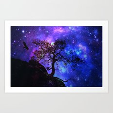 Into  the space Art Print