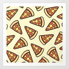 Pepperoni Pizza Pattern Art Print