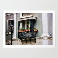 Gibraltar balcony Art Print