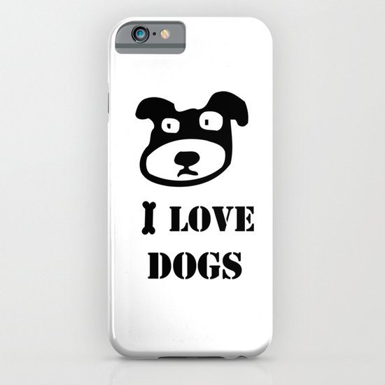 I LOVE DOGS iPhone & iPod Case