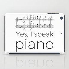 I speak piano iPad Case