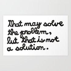 Problem Solving Art Print