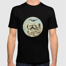 Bird house SMALL Black Mens Fitted Tee