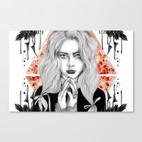 Russian Dark Girl Canvas Print
