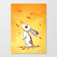 Autumn Hare Canvas Print